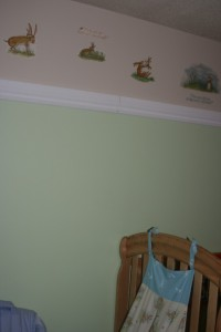 Trim and wall stickers.