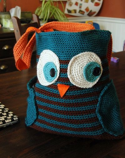 Free Crochet Pattern For Owl Tote Bag Traitoro For